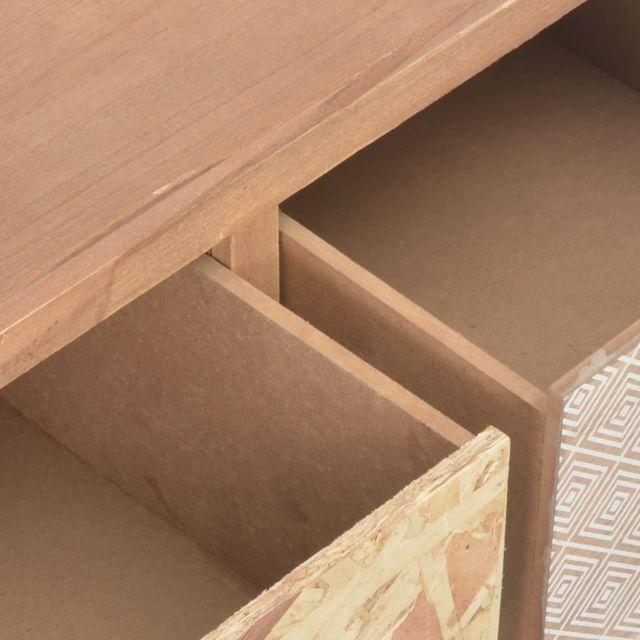 Icaverne - Buffets & bahuts gamme Table console avec 3 tiroirs 100 x 30 x 73 cm Bois de pin massif
