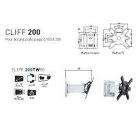 ERARD - Support Mural Ecran plat Orientable et Inclinable CLIFF 200TW90