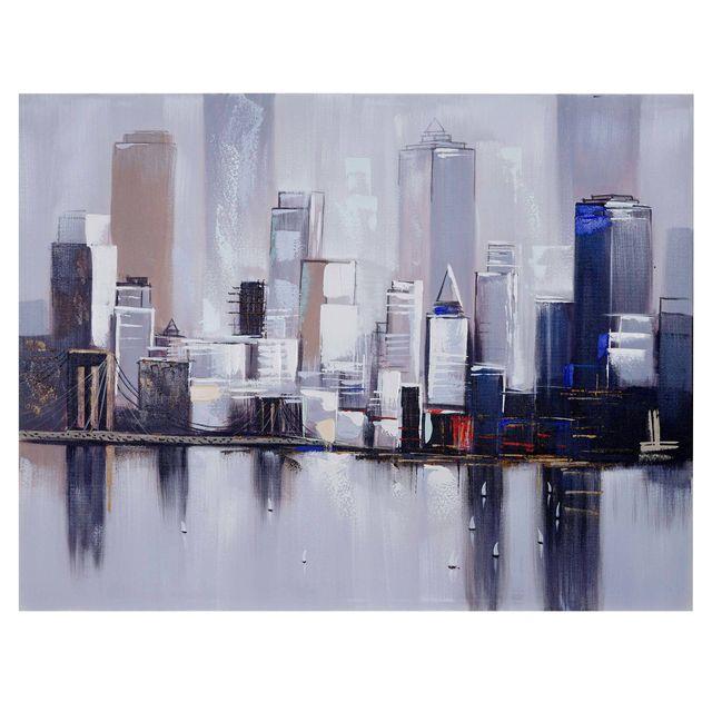 Mendler - Tableau à l'huile, New York, peint