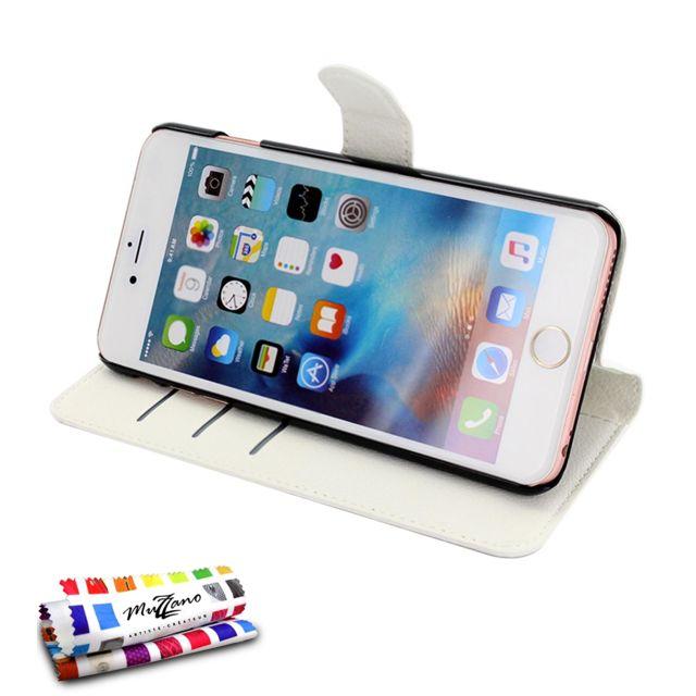 muzzano etui folio apple iphone 6s plus blanc pas cher achat vente appcessoires. Black Bedroom Furniture Sets. Home Design Ideas