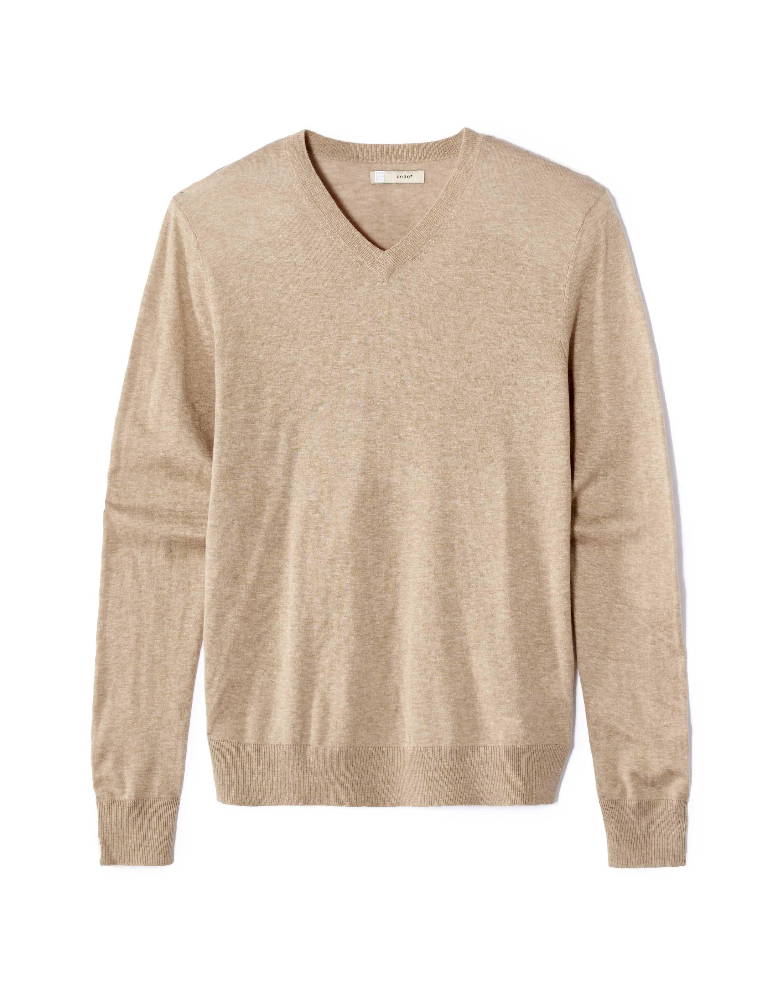 vente chaude chercher nouveau style et luxe CELIO - Pull droit en coton cachemire - Beige - pas cher ...