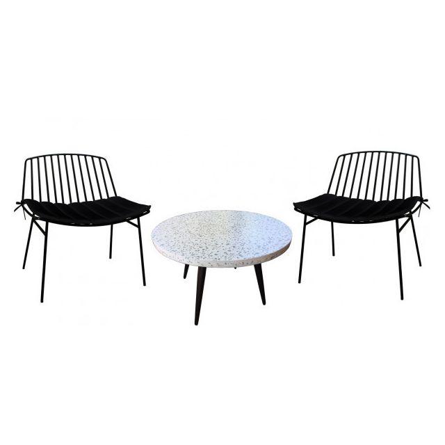 Mathi Design Terrazzo M - Ensemble d'extérieur lounge