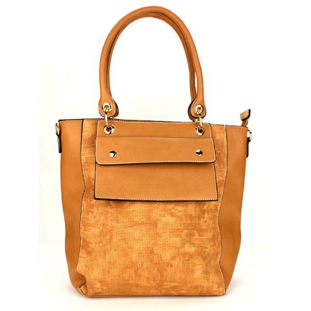 Cendriyon - Grand sac à main camel Marque Orella Caramel - pas cher Achat    Vente Sacs à main - RueDuCommerce 6278f6e9628