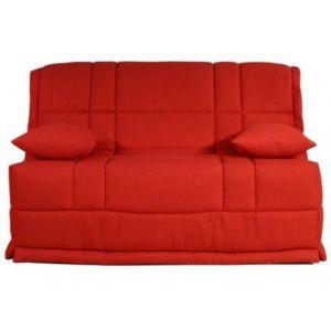 Bultex canap bz en tissu honor couchage quotidien matelas 12 cm rouge 14 - Canape bz couchage quotidien ...
