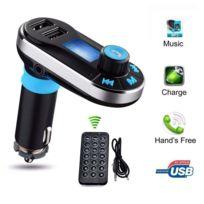 Alpexe Lecteur Mp3 Pour Voiture Et Transmetteur Fm Avec Télécommande Allume Cigare Pour Tous Téléphone Portable Bluetooth