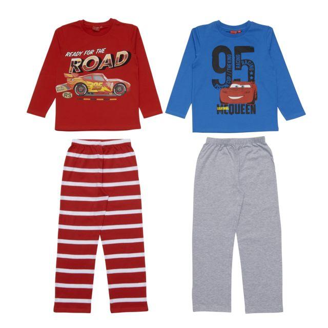 15bd7614fbca9 DISNEY - Lot de 2 pyjamas garçon CARS Assortiment - pas cher Achat ...
