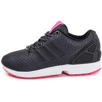 adidas zx flux noir lacet rose