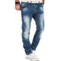 Justing - Jean fashion délavé homme Jean 6800 bleu