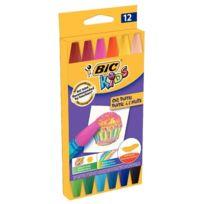 Bic Kids - pastels à l'huile hexagonaux coloris assortis - etui de 12