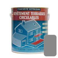 Procom - Peinture d'étanchéité imperméabilisante pour terrasse circulable, balcons, sols extérieurs, bétons, plusieurs coloris-10 litres-Gris