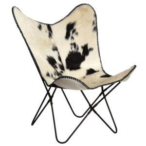 aubry gaspard fauteuil papillon en peau de vache pas cher achat vente fauteuils. Black Bedroom Furniture Sets. Home Design Ideas