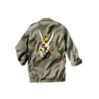 Magic custom - Veste Militaire Peace and love Leopard