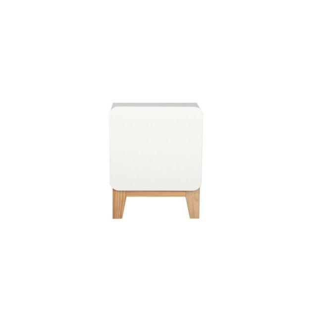 chevet blanc bois. Black Bedroom Furniture Sets. Home Design Ideas