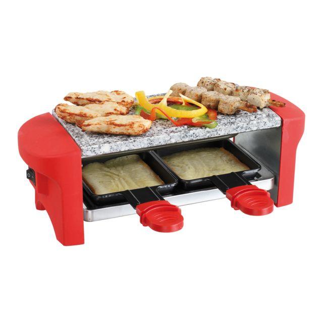 DOMOCLIP Appareil à raclette rouge 2 personnes DOC156R