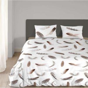 good morning parure de couette feather plumes style. Black Bedroom Furniture Sets. Home Design Ideas