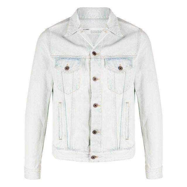 Off-white Homme Omye005R203860107110 Bleu Claire Coton Veste