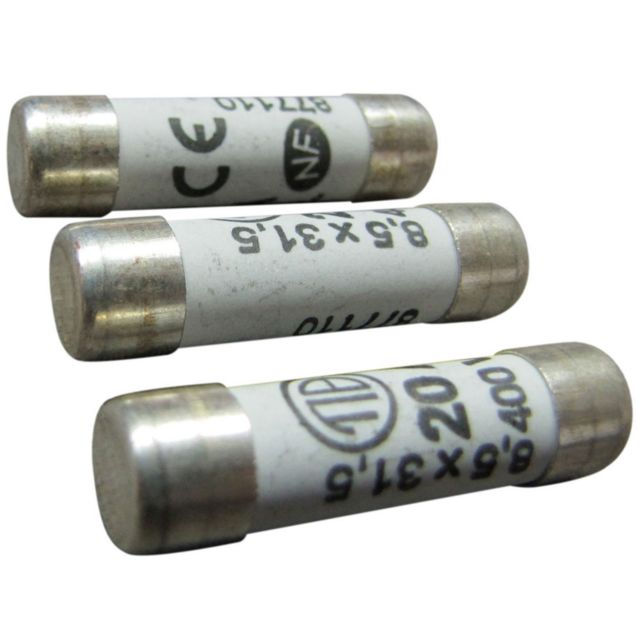 FUSIBLE VERRE 10,3x38mm 6,3A RAPIDE
