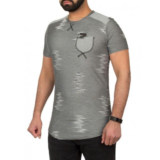 e9b2990909dbe Beststyle - T-shirt homme cintré gris