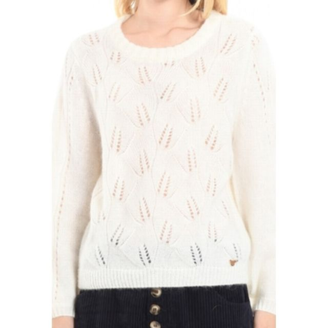 Orfeo Pull Col Rond Maille Dentelle Qondor