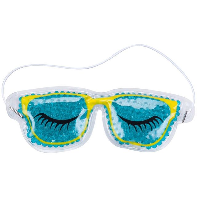 Promobo - Pochette Masque Relaxant Forme Lunette Avec Microbille Chaud Froid  Turquoise db7c5ca8b217