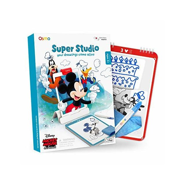 Osmo Super Studio Disney Mickey Mouse & Friends Game - Ages 5-11 - Learn to Draw your Clubhouse Favorites & Watch them Come t
