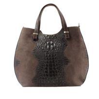 a2a4c3cd9c9c Oh My Bag - Sac à main femme en cuir véritable et daim façon croco