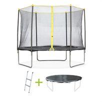 Pack trampoline Ø 305cm Cabri, avec filet, échelle et bâche de protection