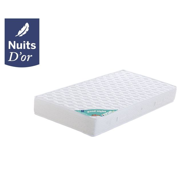 Nuits D'OR Nightgood Matelas 160x190 Densité 35 Kg/m3 - Hauteur 21 Cm - Soutien Tres Ferme - Orthopédique