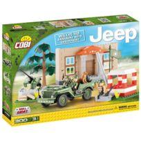 Cobi Klocki - Cobi Small Army - 24302 - Willys Mb Barracks With Checkpoint Co-24302