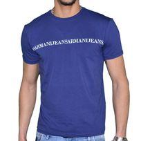 Armani - Jeans - Tee Shirt Manches Courtes - Homme - V6h21 - Bleu Marine