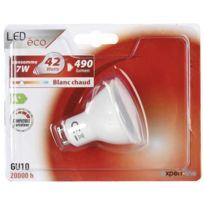 A Expertline 7 W Lot Variateur Ampoule Équivalent Compatible De Ampoules 42 Blanc Gu10 2 Led Halogene Chaud BQxWoedCEr