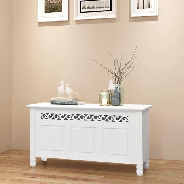 Vidaxl Banc de rangement en style baroque Pfdm blanc | Blanc
