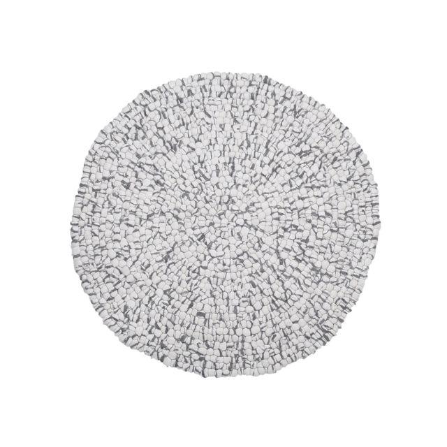 BELIANI Tapis rond en tissu gris clair AMDO - coloré