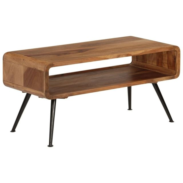 Vidaxl Bois de Sesham Massif Table Basse Canapé Table de Salon Table d'Appoint