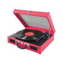 Dynabass - Tourne-disques 2 Haut-parleurs à 3 Vitesses Travelmusixv2