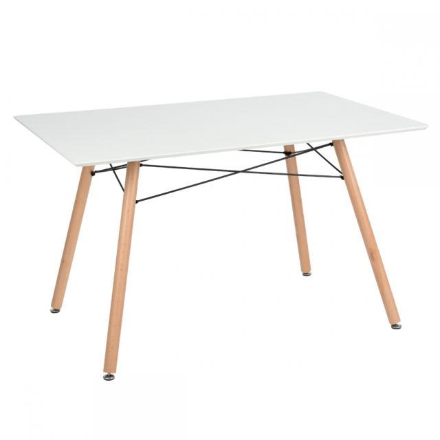 Ego design table manger iceberg blanc pas cher achat vente tables manger rueducommerce for Carrefour table a manger