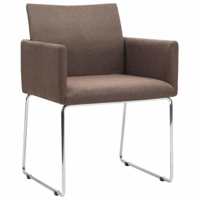 Lot de deux chaises de salle à manger marron 1902236