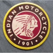Universel - magnet 7.5 cm indian motorcycle logo indien deco garage cuisine bar diner loft frigo