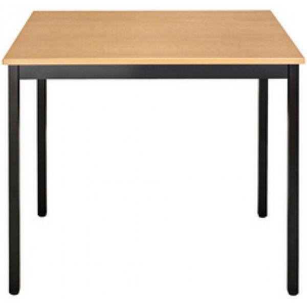 Sodematub Naudin Table rectangulaire 120 x 60 cm - piètement marron - plateau poirier