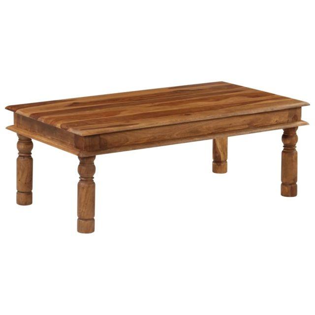 Vidaxl Massif de Sesham Table Basse Table de Salon Table Canapé Meuble Sejour