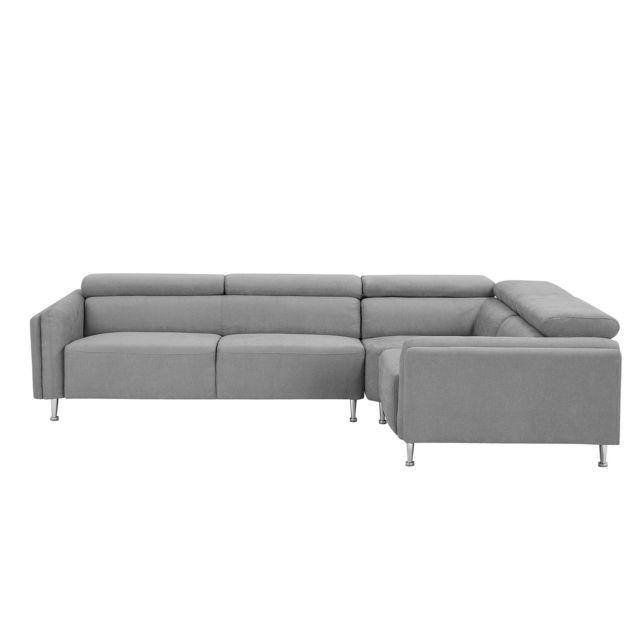 BELIANI Canapé côté gauche gris clair HOSTON