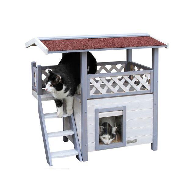 kerbl maisonnette chat lodge ontario gris pas cher achat vente coussin pour chat. Black Bedroom Furniture Sets. Home Design Ideas
