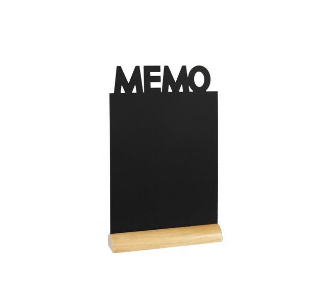Securit Ardoise noire - Silhouette de table Memo + Marqueur craie liquide