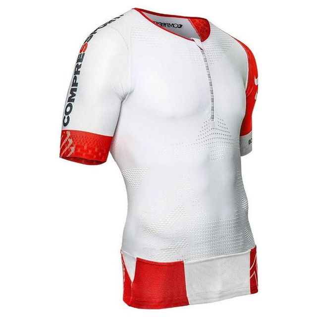 Compressport Tee shirt Triathlon Aero Blanc 2018