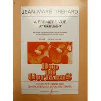 Billaudot Gerard Editions - A première vue volume 1 - Jean-Marie Tréhard
