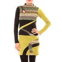 Bamboo39SFASHION - Bamboo's Fashion Robe Tribal Bw622 vert