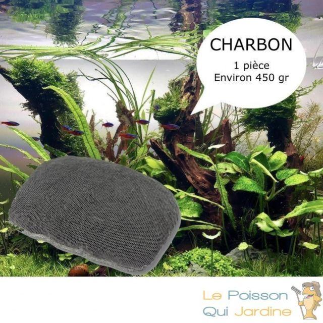 Aqua Occaz Charbon Actif 450 gr Avec filet pour purifier l'eau de votre aquarium et bassin