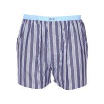 Mariner - Caleçon en coton peigné bleu jean à rayures bleu ciel