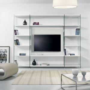 inside 75 composition murale tv babylone blanc c ruse. Black Bedroom Furniture Sets. Home Design Ideas