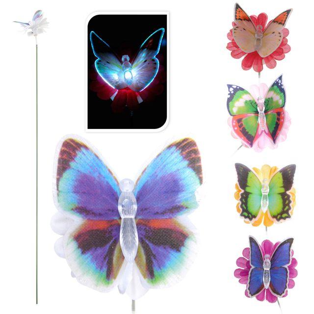 Provence Outillage Papillon lumineux à couleur changeante